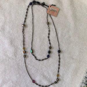 Rachel Long Beaded Chain Necklace